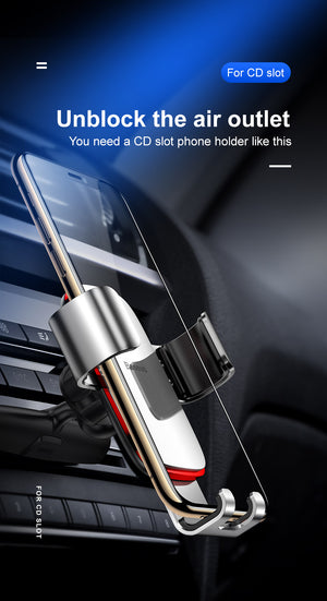 Baseus Gravity Car Phone Holder for Car CD Slot Air Vent Mount Phone Holder Stand for iPhone X