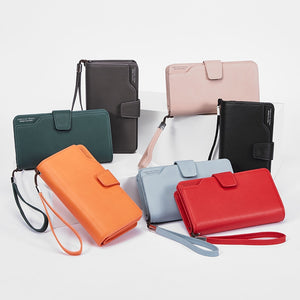 Wallet Female Leather Wallet Leisure Purse 3Fold Top Quality Women Long Coin Purse Many Card slot