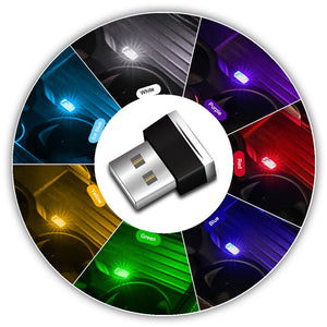 Mini LED Car Light Auto Interior USB Atmosphere Light Plug And Play Decor Lamp Emergency Lighting PC