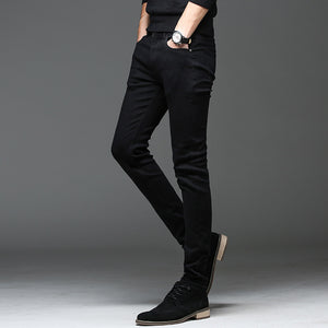 Batmo 2019 new arrival high quality casual slim elastic black jeans men ,men's pencil pants