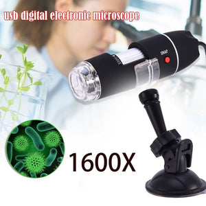 Mega Pixels 1600X 8 LED Digital Microscope USB Endoscope Camera Microscopio Magnifier Electronic