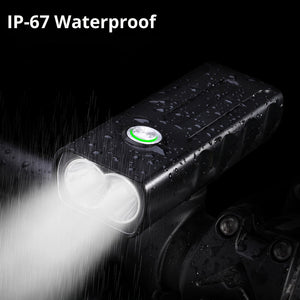 15000Lum 2/3*L2/T6 USB Rechargeable Built-In 5200mAh 3Modes Bicycle Light Waterproof Headlight