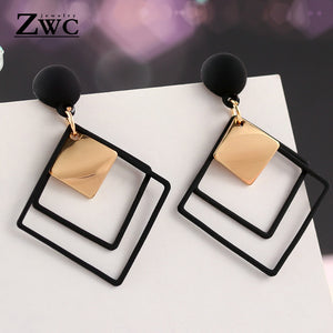 ZWC Fashion New Women's Acrylic Drop Earrings Hot Selling Long Dangling Earrings Gift For Women