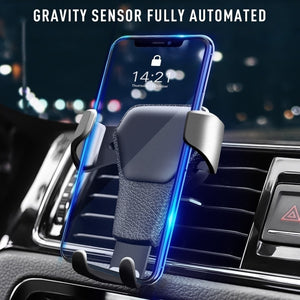 Gravity Car Phone Holder Air Vent Mount Cell Smartphone Holder For Phone In Car Smile Face Bear