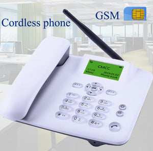 cordless GSM 900 1800 MHz Support SIM Card Fixed Phone white black Landline Phone Fixed Wireless