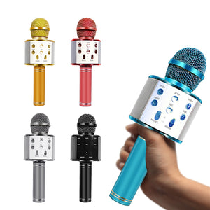 WS-858 Bluetooth Wireless Microphone Handheld Karaoke Mic USB Mini Home KTV For Music Playing