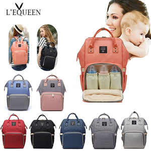 Lequeen Fashion Mummy Maternity Nappy Bag Large Capacity Nappy Bag Travel Backpack Nursing Bag for