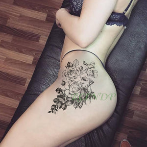 Waterproof Temporary Tattoo Sticker Bird Flower Rose fake tatto Cool flash tatoo tatouage temporaire