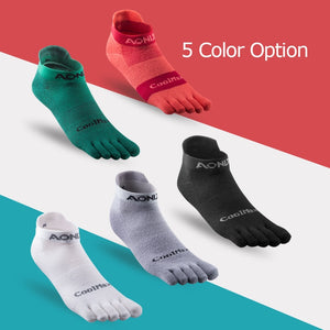AONIJIE E4110 One Pair Lightweight Low Cut Athletic Toe Socks Quarter Socks For Five Toed Barefoot