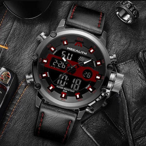 Relogio Masculino MEGALITH Sport Waterproof Watches Men Luminous Dual Display Alarm Top Brand Luxury