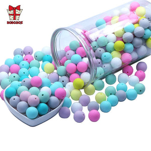 BOBO.BOX 9mm 50pcs Silicone Beads Pearl Silicone Food Grade Teething Beads DIY BPA Free Jewelry Baby