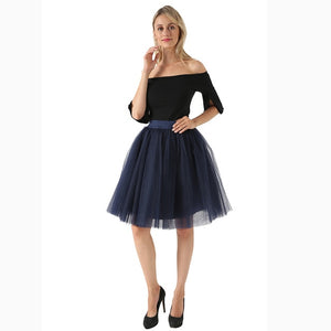 Puffy New Arrival 5 Layer Fashion Women Tulle Skirt Tutu Wedding Bridal Bridesmaid 2019 Overskirt Petticoat Lolita Saia