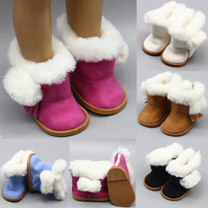 "43cm Height Girls Dolls Snow Boots Shoes for 18"" Doll Born Baby Doll Winter Chirstmas Shoes Doll Accessories"