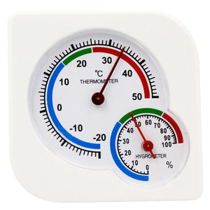 Indoor Outdoor Square double dial Thermometer Hygrometer thermometer humidity meter inductive
