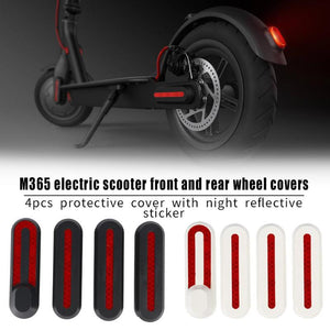 4pcs Scooter Front Rear Wheel Tyre Cover Hubs Protective Shell Case Sticker For Xiaomi Mijia M365