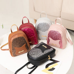 Girl's Small Backpack 2019 Fashion Shining Sequin Shoulder Bag Women Multi-Function Mini Back Pack For Teenage Girls Kids #YJ