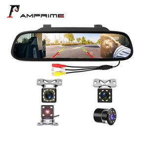 AMPrime 4.3 inch Car HD Rearview Mirror Monitor CCD Video Auto Parking Assistance