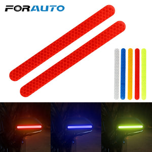 2 Pieces Car Rearview Mirror Stickers Safety Mark Car Reflective Strip Anti-collision Warning Tape