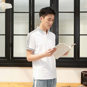 Xiaomi Fashion Cotton Shirts Male function stitching Short Sleeve Polo man Casual Skin-friendly Breathable Top Clothes