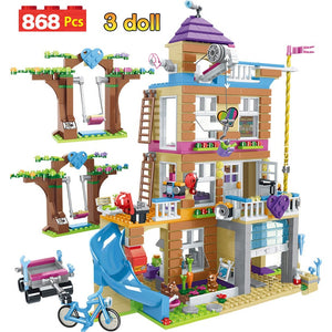868pcs Building Blocks Girls Friendship House Stacking Bricks Compatible Legoinglys Girls Friends Kids Toys for Children GB08