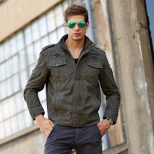 NEW 2019 Mens Green Khaki 3 Colors Military Jacket Winter Cargo Plus size M-XXXL 5XL 6XL Casual