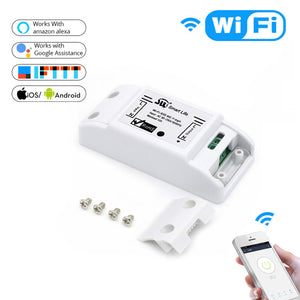DIY Wi-Fi Smart Light Switch Universal Breaker Timer Smart Life APP Wireless Remote Control Works with Alexa Google Home IFTTT