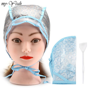 Hair Dyeing Cap + Hook Brush Coloring Highlighting Tinting Cover Protector DIY Home Use Pro Salon