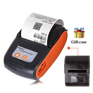 Portable Mini 58mm Bluetooth Wireless Thermal Receipt Ticket Printer For Mobile Phone Bill Machine shop printer for Store