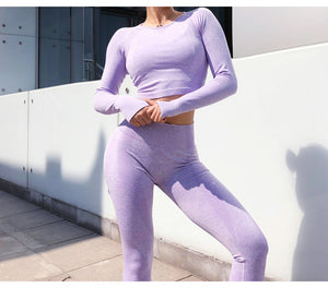 New Seamles Gym Clothing Women Gym Yoga Set Fitness Workout Sets Yoga Outfits For Women Athletic