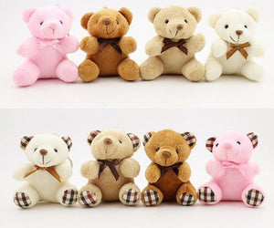 New 2Designs- Small 10CM Key chain Plush Bear Toys , Stuffed Animal DOLL TOY