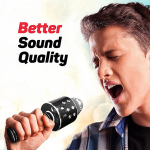 Karaoke Microphone Wireless W/ Bluetooth Speaker Instagram 5000+Likes iPhone Android PC Smartphone