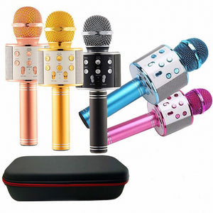 WS858 Bluetooth Wireless Condenser Magic Karaoke Microphone Mobile Phone Player MIC Speaker Record