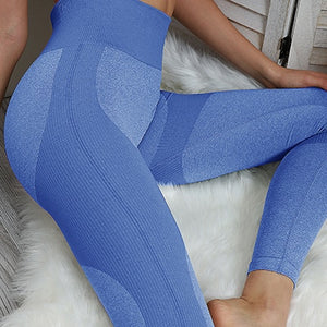 Vital Energy Seamless Leggings High Waist Gym Fitness Push Up Scrunch Butt Leggings Sport Tights