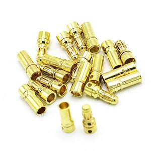 20/40pcs 3.5mm Gold Bullet Banana Connector Plug For ESC Battery Motor (10/20 pair)
