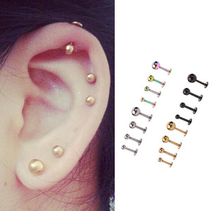 1PC Medical 316L Prevent Allergy Titanium Steel Stud Earring for Men and Women Party Punk Vintage