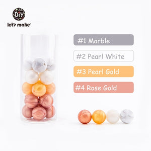 Infant Teether Silicone Beads 20pc 12mm Round Silicone Baby Teething Beads Food Grade Nursing Chew