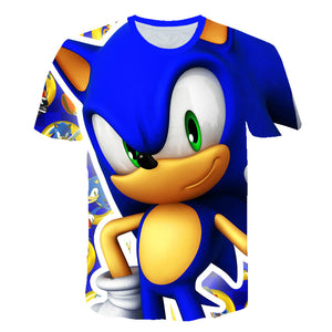 Boys Mario Supersonic sonic Print Clothes Girls 3D Funny T-shirts Costume Children 2019 summer
