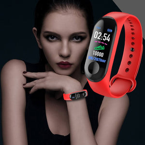 M3 Smart Watch Bracelet Men Women Blood Pressure Heart Rate Monitor Waterproof Fitness tracker Smart