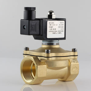 Normally closed solenoid valve water valve, IP65 fully enclosed coil, AC220V DC12V DC24V, G3/8""
