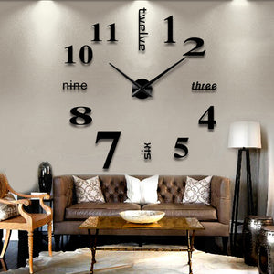 3D Wall Clock Mirror Wall Stickers Removable 4 Color Self-Adhesive Art Decal Wall Clocks Home