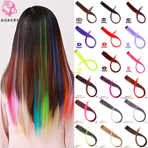 MUMUPI Connect Colorful Straight Hair Wigs Clip Piece Hairpin Party Nightclub Cosplay Women Girls