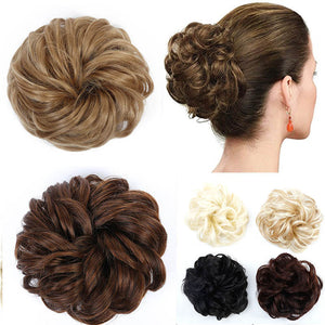 MUMUPI Hair Extensions Wavy Curly Messy Hair Bun Extensions Donut Hair Chignons Hair Piece Wig