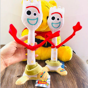 High quality 15cm 26cm Toy Story 4 Forky Buzz Lightyear Woody Soft Plush toy Stuffed Doll Figure