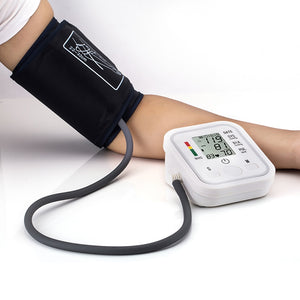 Portable Tonometer Blood Pressure Monitor Household Sphygmomanometer Arm Band Type Digital Electronic Mini Blood Pressure Meter