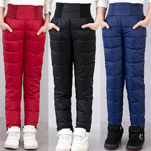 Clearance Winter Thicken Warm Slim Clothes new style Boys Long Pants Children Girls Down Trousers For Girls Baby Kids