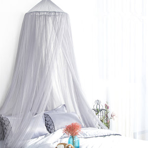 7 Colors Hanging Kids Baby Bedding Dome Bed Canopy Cotton Mosquito Net Bedcover Curtain For Baby