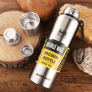 4 Sizes Double Wall Stainless Steel Vacuum Flasks Thermos Cup Coffee Tea Milk Travel Mug Thermo