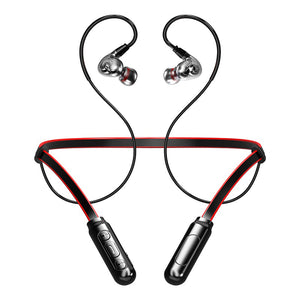 X9 Dual Dynamic Bass Sound Bluetooth Earphone Hook/in-ear Stable Sport Wireless Headphone 250mAh TF Card MP3 Waterproof Headset