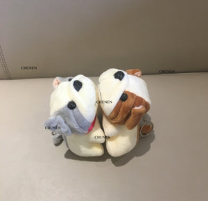 2Colors - NEW DOG Plush Stuffed TOY Animal DOLL , 11CM Dog Figure DOLL Keychain Plush TOY