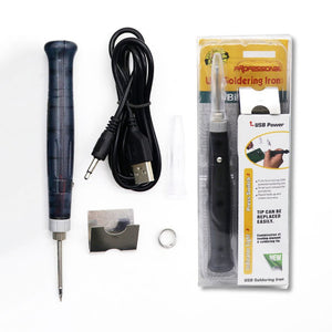 Portable USB Soldering Iron Pen 5V 8W Mini Tip Button Switch Electric Powered Soldering Station Welding Equipment Tools